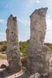Le désert en pierre (kamani de Pobiti) près de Varna, Bulgarie Photo libre de droits