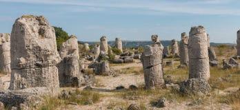 Le désert en pierre (kamani de Pobiti) près de Varna, Bulgarie Images stock