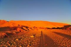 le désert monte l'orange Image stock