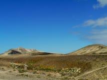 Le désert volcanique près de Costa Calma Photo stock