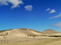Le désert volcanique près de Costa Calma Images libres de droits