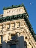 Le détail architectural des Beau-arts dénomment le bâtiment de Chelsea, nouveau Y photographie stock libre de droits