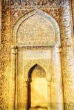 Le détail de mur de mosquée de Jameh image stock