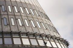 Le détail des émetteurs de télécommunication dominent sur Jested, Liberec, République Tchèque Images stock