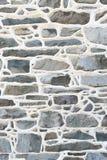 Le détail historique de mur en pierre avec le mortier augmenté joint Images libres de droits