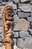 Le détail, sèchent le mur en pierre construit de lave Photo libre de droits