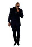 Le détective réel déguisé en tant qu'homme de corporation Image libre de droits