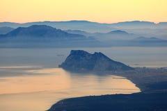 Le détroit du Gibraltar Photos libres de droits
