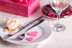 Le dîner de Valentine Photo stock