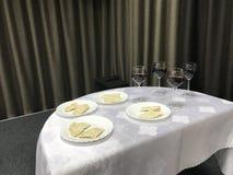 Le dîner du ` s de seigneur Préparations pour la célébration images libres de droits