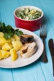 Le dîner scandinave images stock