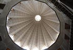 Le dôme Église catholique de l'annonce à Nazareth, Izrael Détail d'intérieur, artistique et d'architecture photo libre de droits