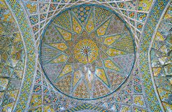 Le dôme dans le complexe de Sepahsalar, Téhéran Photos libres de droits