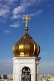 Le dôme de l'église chrétienne Image stock