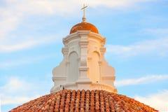 Le dôme de l'église dans Piran, Slovénie Image libre de droits