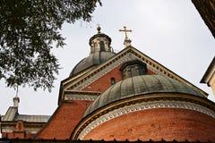 Le dôme de l'église de la rue Peter et Paul Images libres de droits