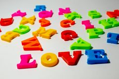 Le ` d'amour de ` de mot pour voir la différence Image stock