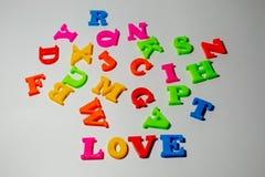 Le ` d'amour de ` de mot pour voir la différence Images stock