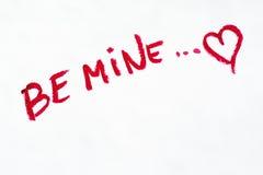 Le ` d'expression soit ` de mine peint dans différentes nuances de rouge à lèvres pour des lèvres, Photographie stock libre de droits