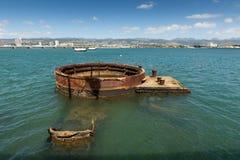 Île d'Hawaï d'épave de Pearl Harbor Photographie stock