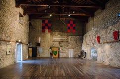Le d'intérieur de la forteresse de Malatesta Photo stock