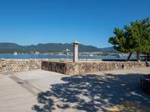 ?le d'Itsukushima, Japon photos libres de droits