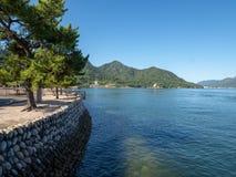 ?le d'Itsukushima, Japon photo libre de droits
