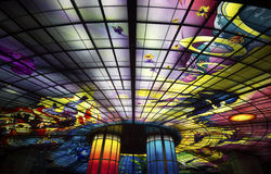 Le dôme de la lumière dans MRT de Kaohsiung (Gao Xiong, Taïwan) Image stock