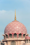 Le dôme de la mosquée de Putra Photo stock