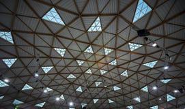 Le dôme unique en verre et en bois de la glace se garent dans Eilat Photo stock
