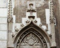Le d?tail d'architecture du ch?teau de Corvin, ch?teau de Hunyadi, ch?teau de Hunedoara photo libre de droits