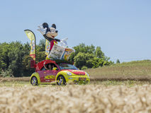 Le Dagboek DE Mickey Car - Ronde van Frankrijk 2016 Stock Fotografie