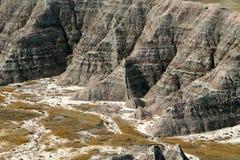 Le Dakota du Sud : Les bad-lands Images stock