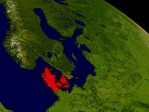 Le Danemark de l'espace Photo stock