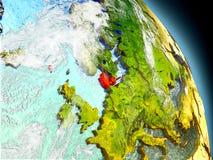 Le Danemark de l'espace Images stock