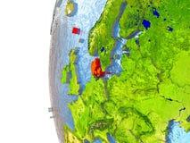 Le Danemark en rouge Photographie stock libre de droits