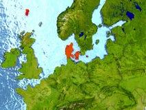 Le Danemark en rouge Images stock