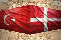 Le Danemark et la Turquie Images libres de droits
