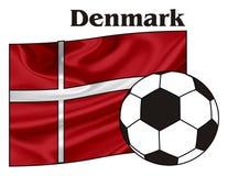 Le Danemark et le football illustration de vecteur