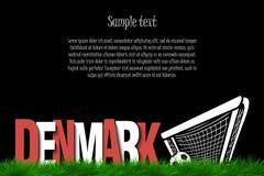 Le Danemark et un ballon de football à la porte Photos stock