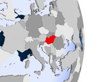 Le Danemark sur le globe illustration stock