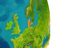 Le Danemark sur la planète Images libres de droits