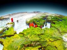 Le Danemark sur le modèle de la terre Images libres de droits