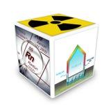 Le danger du gaz de radon dans nos maisons texte debout de reste d'image de figurine de concept de COM bon illustration libre de droits