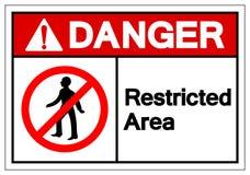 Le danger a limité le signe de symbole de secteur, l'illustration de vecteur, isolat sur le label blanc de fond EPS10 illustration de vecteur