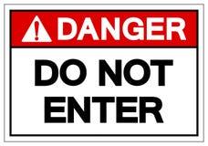Le danger n'écrivent pas le signe de symbole, l'illustration de vecteur, isolat sur le label blanc de fond EPS10 illustration de vecteur