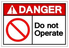 Le danger n'actionnent pas le signe de symbole, illustration de vecteur, d'isolement sur le label blanc de fond EPS10 illustration de vecteur