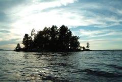 Île dans le nord Photographie stock