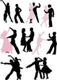 le danseur appareille la silhouette illustration stock