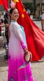 Le danseur australien chinois souhaite la bienvenue à premier ministre Li Keqiang, Sydney Au Photographie stock